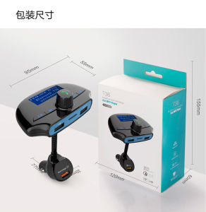 Handsfree CallingのBluetooth FM Transmitter Wireless Car KitおよびMobile Audio DevicesのためのFlush Fit Dual Port 3.1A Car Charger