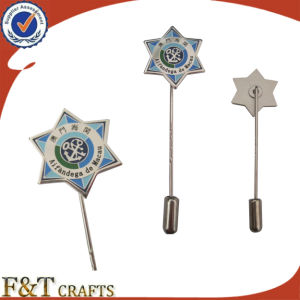 エッチングのSoft Enamel Metal Lapel PinかManufacturers中国またはMetal Long Needle Lapel Pin