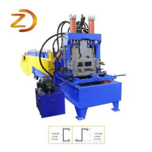 Tamanho da Mudança Rápida CZ Terça máquina de formação da estrutura de aço