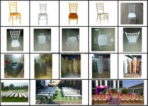 高品質の固定クッションが付いている安い金のChiavariの椅子