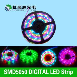 Digitaces con el IC en la iluminación de tira del RGB 5050 LED del color