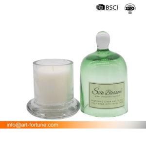 Jarra perfumada vela no vidro de luxo Cloche para decoração