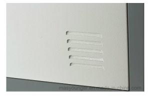 De grijze Kast Met vier deuren van het Metaal van de Kleur