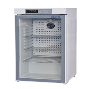 Barato preço pequena capacidade 50L Porta de vidro /Porta de espuma Lab Frigorífico