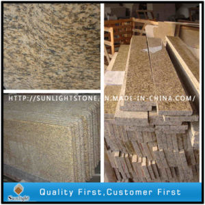 床または壁のための磨かれたトラの皮の黄色の石の花こう岩の台所タイル