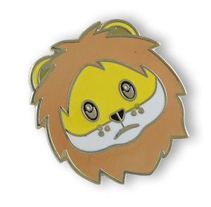 ライオンの表面エナメルの折りえりPin