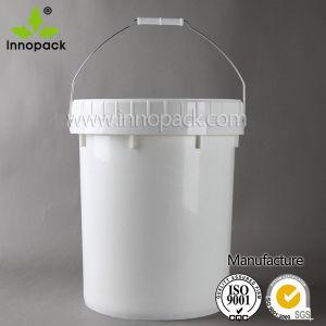 20 litro com tampa roscada estanque Grau Alimentício balde plástico branco