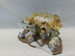 Beeldjes van de Scène van de Geboorte van Christus van de Scène van de Geboorte van Christus van de Beeldjes van Kerstmis de Houten