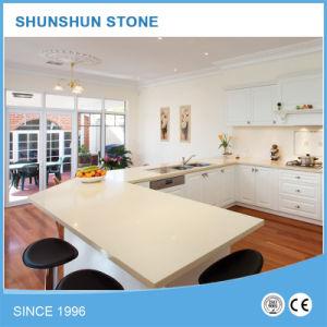 Cozinha de pedra de quartzo Artificial amarela as bancadas fiquem riscadas