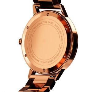 Relógio de desporto Stainles Steel cronógrafo com cristal de safira abobadadas homens à prova do relógio de pulso
