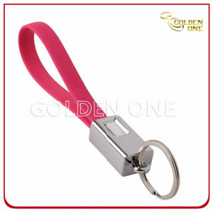 승진 우수 품질 원형 최신 각인된 가죽 열쇠 고리