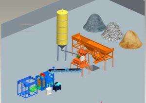 Qtj4-25 het Semi Automatische Holle Blok die van het Cement die Machine vormen in China wordt gemaakt