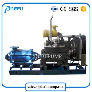 Pompa di estrazione mineraria a più stadi orizzontale ad alta pressione del motore diesel