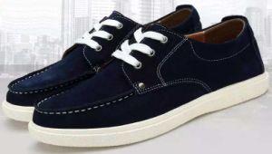 Los hombres de cuero zapatillas deportivas zapatos de moda casual (481)