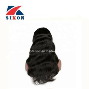 La alta calidad sin enredos de Malasia Virgen de la onda de cuerpo completo de pelo humano encaje peluca