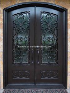 Fancy personalizado de seguridad exterior delantero de las puertas de hierro