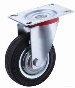 Roulette industrielle en caoutchouc des prix de noir bon marché résistant de bonne qualité
