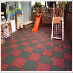 Parque Infantil Azulejos do piso de borracha, Ginásio de borracha antiderrapante, reciclar o mosaico de Borracha