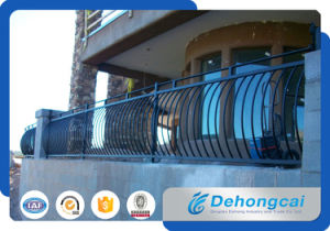 ライトによって電流を通される鋼鉄バルコニーの柵/安全錬鉄のバルコニーの手すり