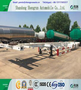 Shengrun Behälter-Fabrik-Preis 20FT 40FT 3 Wellen-skelettartiger Sattelschlepper