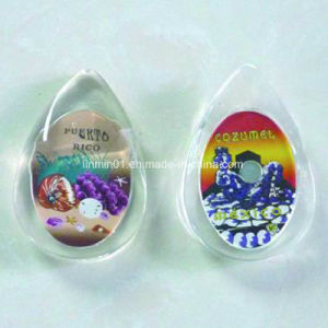 cadeau de promotion Accueil Produits en plastique en forme de goutte de pluie Fridge Magnet