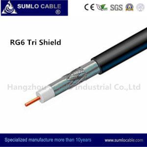 Distribution Line (F6TSV、F6TSVM)のためのRG6 Tri - Shield Drop Cable