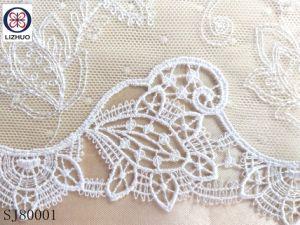 Guipure poliéster de alta calidad de bordado tela de encaje
