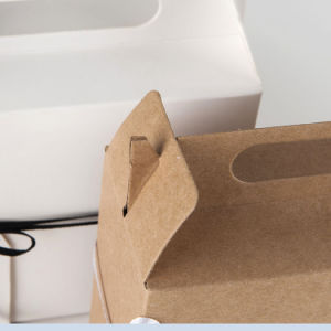 신제품 관례는 Kraft 종이 차/식품 포장 상자를 만든다