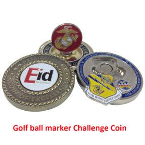 Marcador de uma bola de golfe de metal personalizado Desafio Coin