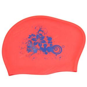 O logotipo personalizado de Silicone Impresso Touca de impressão personalizado chapéu de desportos aquáticos e a tampa à prova de tampa de Natação