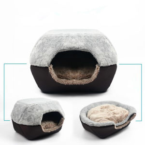 Perro y gato de peluche suave de exportación de peluche mascota de la casa