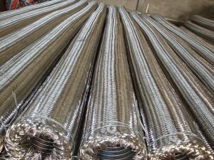 고품질 끈을%s 가진 물결 모양 유연한 금속 호스