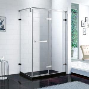 El cuarto de baño Seguridad de la puerta de cristal claro Precio de la puerta de vidrio templado