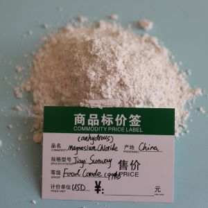 Het Verkopen van de fabriek Directe Rang van het Voedsel 99% Mgcl2 het Chloride van het Magnesium Vochtvrij voor Additieven voor levensmiddelen