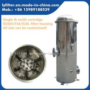 304 316 316L industrial de aço inoxidável do alojamento do filtro de cartucho com 10'', 20'', 30'', 40'' Comprimento