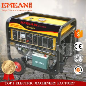6KW Ce Motor Refrigerado a Ar do cilindro único gerador de gasolina