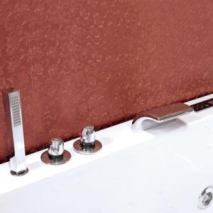 De gama alta de hidromasaje y masaje de burbujas Baño con vidrio templado (TLP-664)