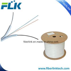 Los núcleos de 1/2/óptica de fibra óptica FTTH Comunicación Indoor/Outdoor Cable caiga plana