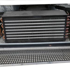 Curva de temperatura Dual delantero expositor refrigerado para tartas de Cafe