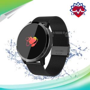 Сенсорный экран Q8 Smartwatch пульса Smart смотреть спорт фитнес-Мужчины Женщины носимые браслет для Ios Android