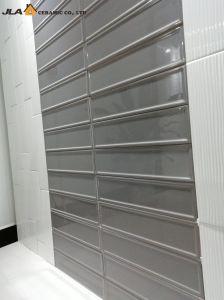 De grijze 4X16inch/10X40cm Beëindigde Opgepoetste Tegel van de Tegel van de Pool marmeren-Blik