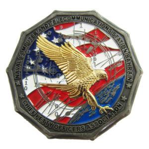 Großhandelsqualitäts-kundenspezifisches antikes Messingmarine-Metallmilitärmünze (100)