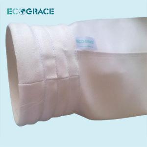 Filtro de alta temperatura de la bolsa de filtro de tela de fibra de vidrio.