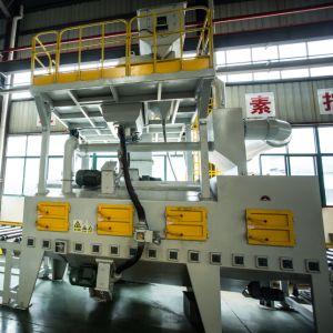 H света стали роликовый конвейер дробеструйная очистка машины для удаления ржавчины с Siemens PLC и наилучшую частоту инвертора