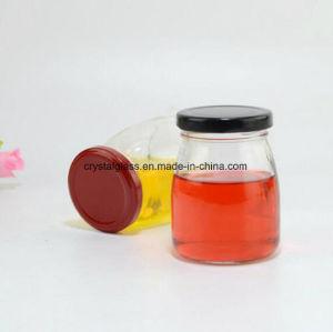 Glas des Pudding-150ml, Nahrungsmittelglasglas mit Öse-Kappe