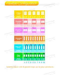 Automaat van Combo van de Verkoop van Tcn 2018 de Hete Met Koeling voor Drank en Snacks