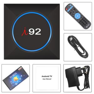 I92 androider IPTV Fernsehapparat-Kasten mit Amlogic S905W 2GB RAM/16GB ROM-Unterstützungs4k vorbelastetem Netflix 2.4G WiFi intelligentem Fernsehapparat-Kasten Media Player