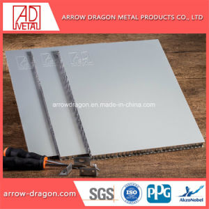 Revestimento a pó de fácil montagem alumínio alveolado de instrumentos para a decoração de paredes
