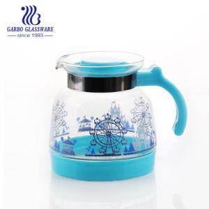 2L théière en verre avec fleur de la conception pour l'eau et de boire du thé