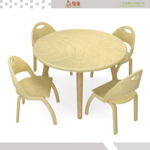 Mobiliário de sala de aula pré-escolar de crianças de madeira mesa e cadeiras para crianças
